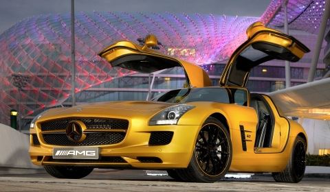 Mercedes SLS AMG Gold Edition 480x280