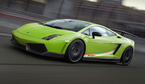 Green Cars Lamborghini Gallardo LP570-4 Superleggera