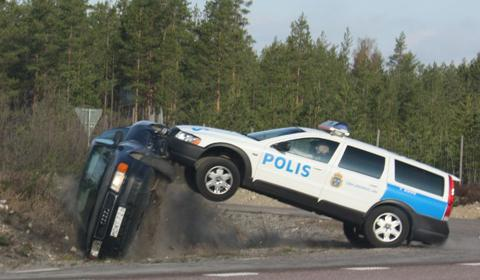 Swedish Police Flips Over Audi A6