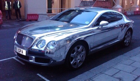 Overkill Silver Bentley Continental GT 480x280