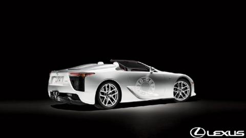Rendering Lexus LF-A Roadster 02