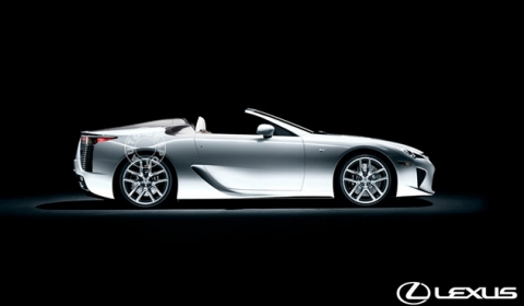 Red Lexus LFA, Lexus LFA Roadster