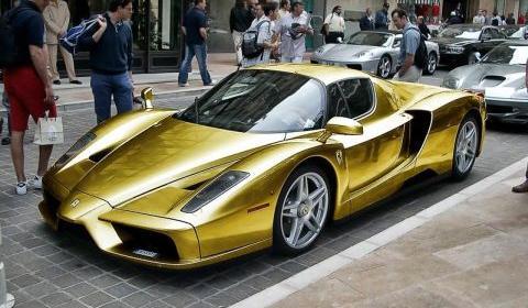 Overkill Gold Ferrari Enzo , GTspirit