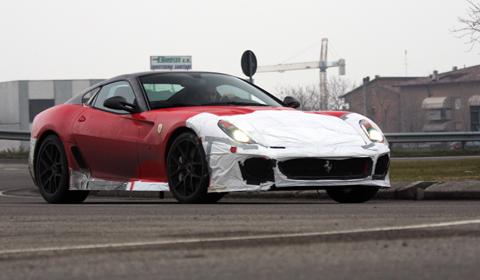 Spyshots of Ferrari 599 GTO