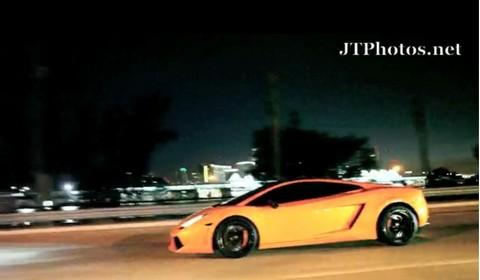 Video Of The Day - Lamborghini Gallardo shooting flames