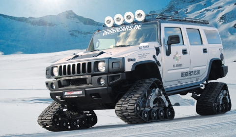 GeigerCars Hummer H2 with Rubber Tracks