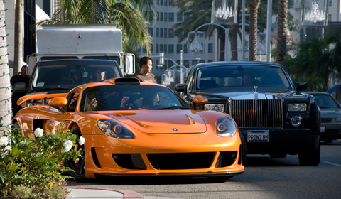 Gemballa Mirage GT and Rolls Royce Phantom in Los Angeles