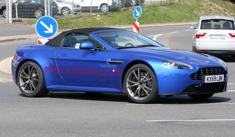 Spyshots 2011 Aston Martin V8 Vantage Roadster Facelift