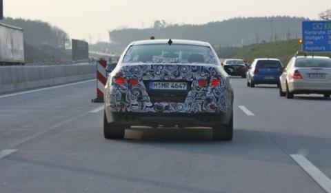 Spyshots BMW F10 M5 on Autobahn Near Munich