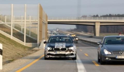 Spyshots BMW F10 M5 on Autobahn Near Munich 01