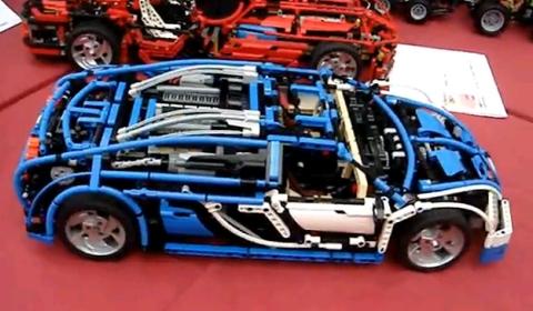 Video Radio-Controlled LEGO Bugatti Veyron