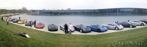 21 McLaren F1s at McLaren Factory Meeting 01