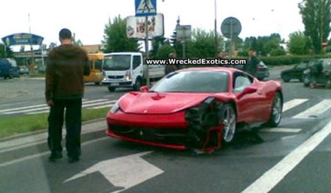 Car Crash Ferrari 458 Italia in Poland