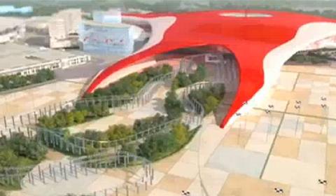 Video Ferrari World Abu Dhabi Fly Thru
