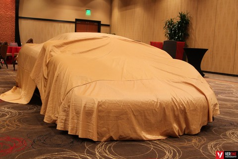 Unveiling of car inside hotel in Seattle