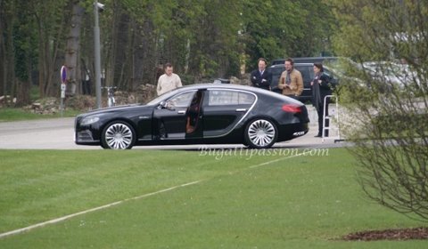 Spotted Bugatti 16C Galibier at Factory