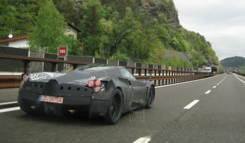 Spyshots 2011 Pagani C9 at Brenner Pass