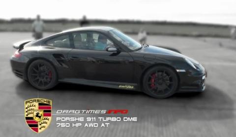 Video Porsche 911 Turbo Switzer vs Porsche 911 GT2 9ff, BMW M3 V10 & Lamborghini LP550-2
