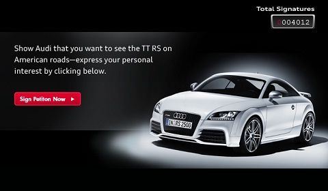 Audi TT RS Petition North America