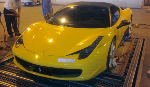 Ferrari 458 Italia Destroyed in Fire at London Heathrow Airport