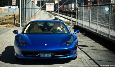 photo of the day ferrari 458 italia in blue - Ferrari 458 Italia Blue