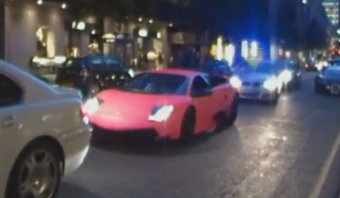 Pink Lamborghini LP670 SV Impounded by London Police