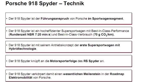 Rumours Porsche 918 Spyder Nürburgring Time 7:20?