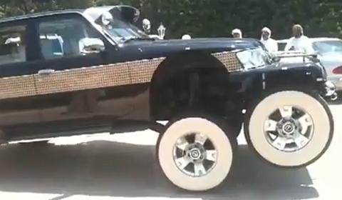 Video: Rainbow Sheikh Builds Unique Stretched Nissan Patrol