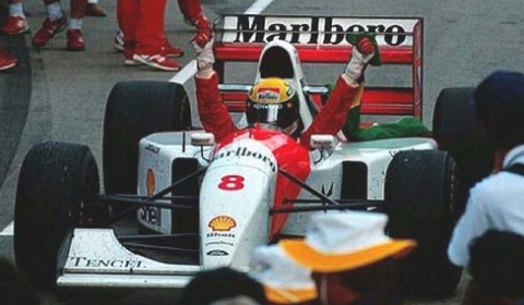 Video Donington 1993 First Lap Ayrton Senna