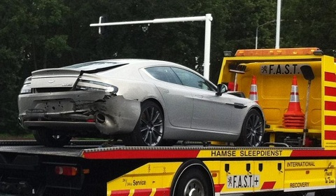 First Aston Martin Rapide Crash