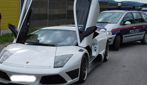 Lamborghini Murcielago IMSA Caught Speeding