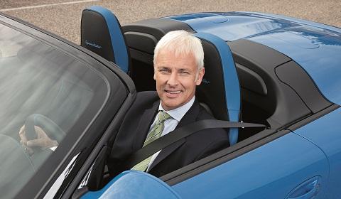 New Porsche CEO at Paris Motor Show