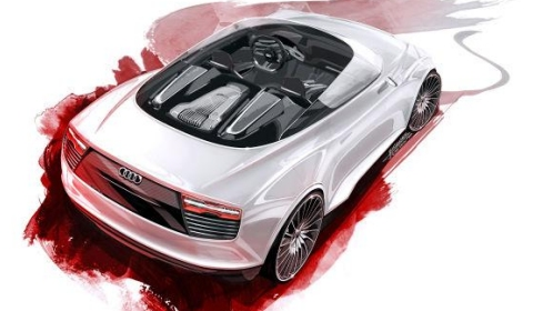 Audi E-tron Spyder for Paris Motor Show