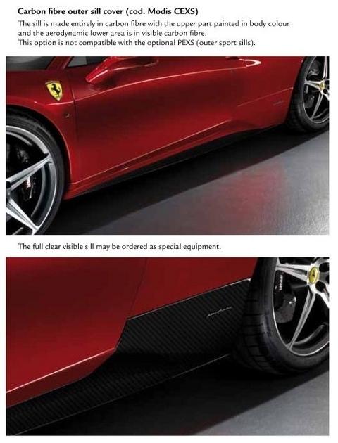 Carbon Fiber Accessory Parts for Ferrari 458 Italia 01