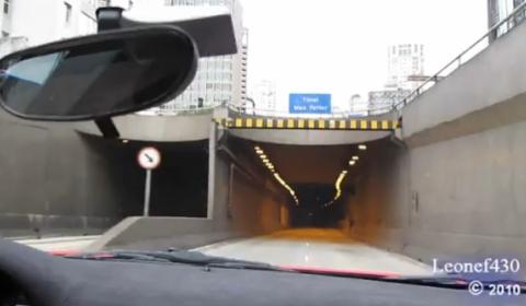 Video Ferrari 360 Challenge Stradale Inside a Tunnel
