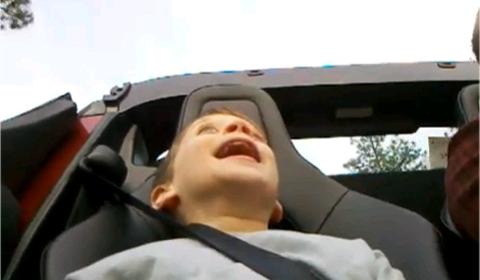 Video Little Fella Experiences Tesla Roadster Sport