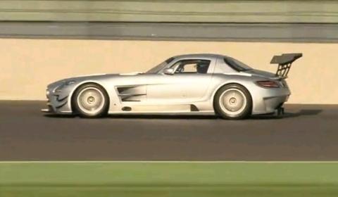 Video: Mercedes SLS AMG GT3 at Eurospeedway Lausitz