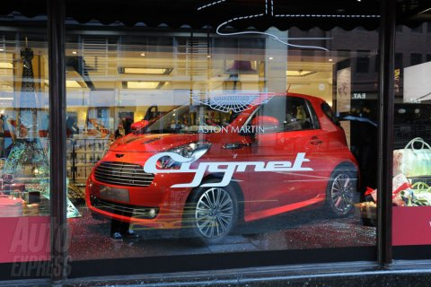 Aston Martin Cygnet on Display at Harrods 02