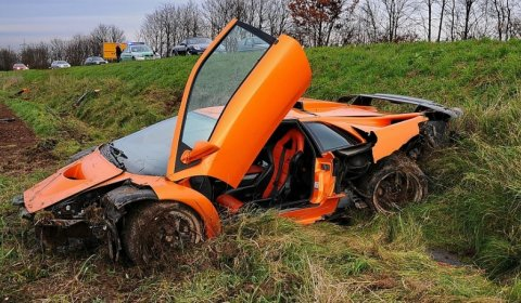 Car Crash Lamborghini Diablo GT Near Nuremberg Germany