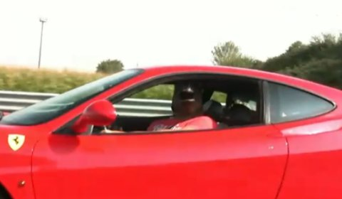 Funny Video Horse Drives Ferrari 360