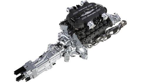 This is the New Lamborghini LP700-4 Aventador Power Train