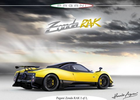 Fourth One-off Pagani Zonda RAK 01