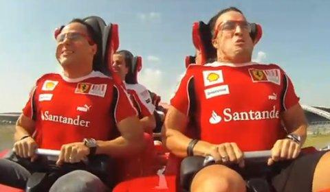 Video Felipe Massa and Fernando Alonso Ride World's Fastest Roller Coaster