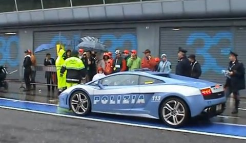 Video Lamborghini LP560-4 Polizia Stradale at Monza