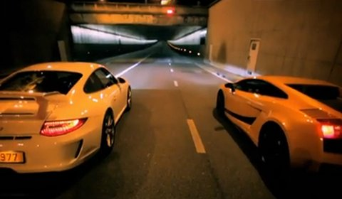 Video The Ring Race in Paris - 911 GT3 VS Gallardo