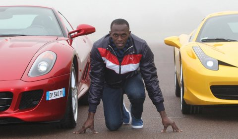 Video Usain Bolt Visits Ferrari and Fiorano Race Track