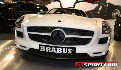 Zurich 2010 Matte White Brabus SLS AMG