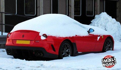 £300,000 Ferrari 599 GTO Coated in Snow