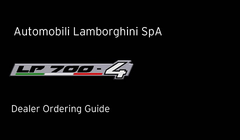 LP 700-4 Dealer Ordering Guide 10122010