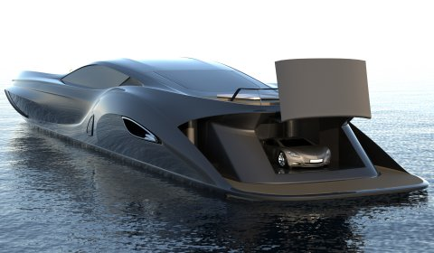 Gray Design Reveals SC166 Superyacht with Supercar Tender
